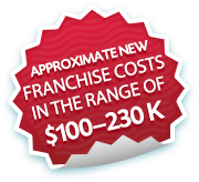 Approximate New Franchise Cost in the range of $100-130k